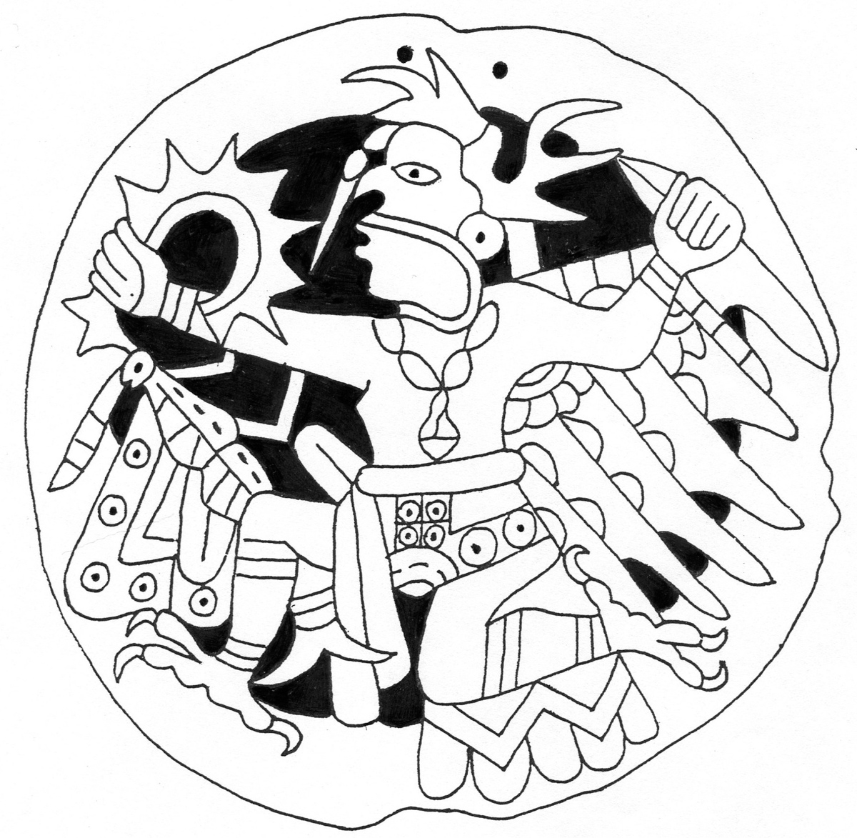 Eagle-warrior – with cutouts