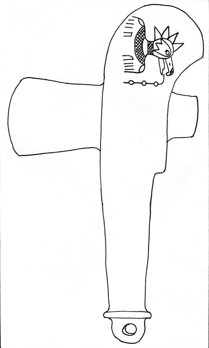 Stone – Monolithic ax (incised)