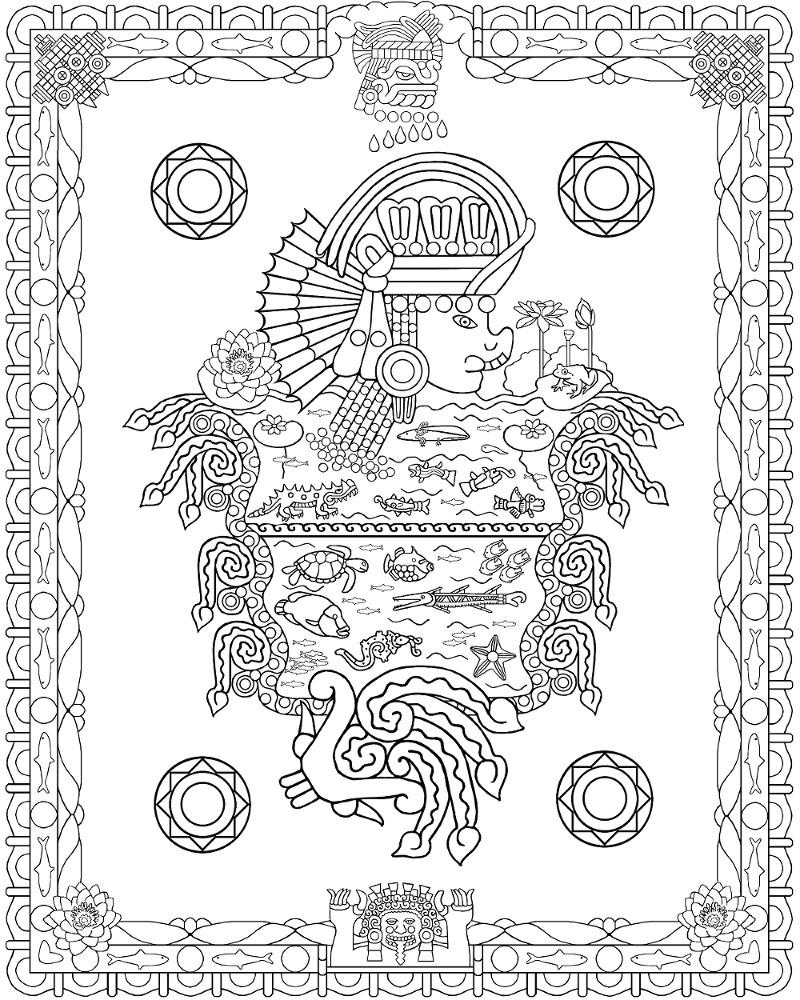Aztecs richard balthazar page 2 for Aztec gods coloring pages