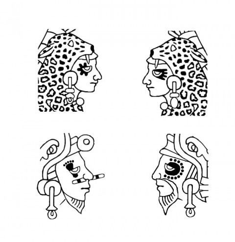 Aztec/Mixtec facial tattoos
