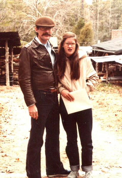 Richard Balthazar with younger daughter, 1979