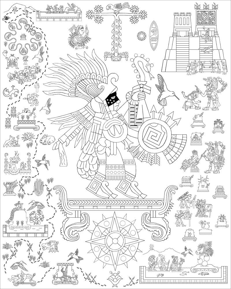 Aztec Icon 7 Huitzilopochtli Hummingbird Of The South Richard