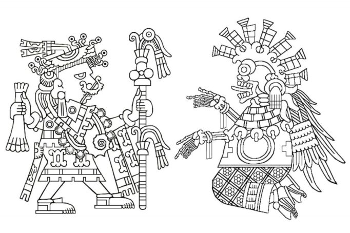 Huixtocihuatl, Lady of Salt, and Mictlancihuatl, Lady of the Land of the Dead